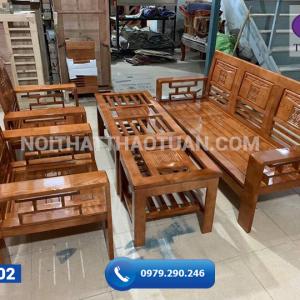 Bộ ghế Phúc Lộc Thọ gỗ sồi 200cm