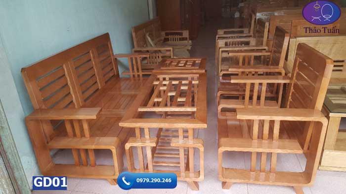 Bộ bàn ghế chữ G gỗ sồi Nga GD01