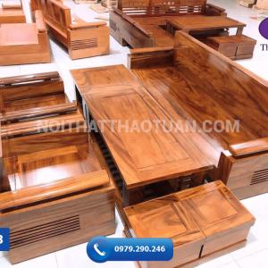 Ghế đối mặt liền gỗ hương xám 240cm