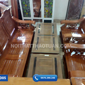 Ghế đối mặt nan tay lượn gỗ sồi 230cm