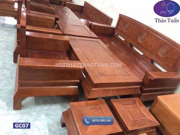 Bộ ghế Hoàng cung 6 món gỗ sồi Nga GC07
