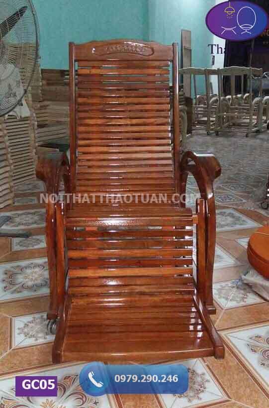 Ghế lười thư giãn gỗ sồi Nga GC05