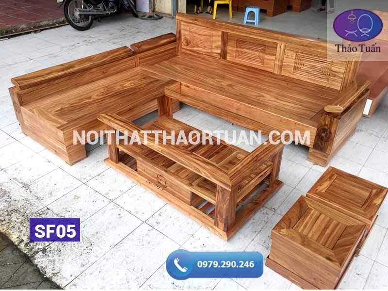 sofa góc chữ L tay nghiêng gỗ hương xám1-org