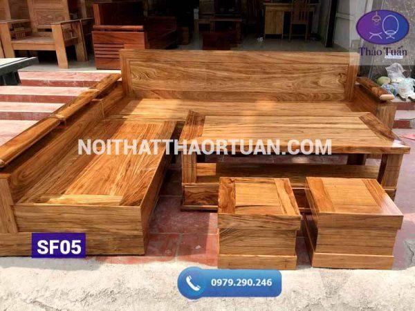 sofa góc chữ L tay nghiêng gỗ hương xám2-org