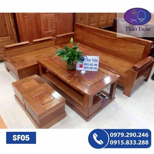 sofa gỗ hương xám sf05-1