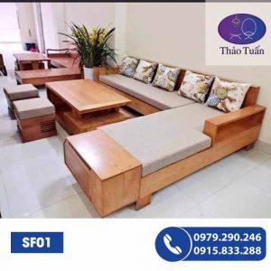 sofa gỗ sf01