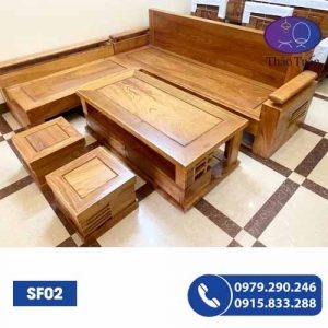 sofa gỗ sf05