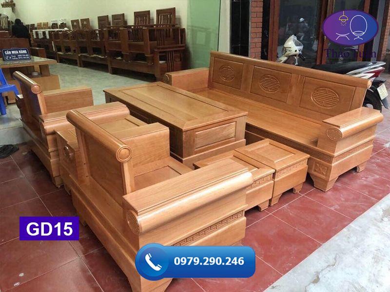 Bộ ghế đối pháo gỗ bích GD15-org