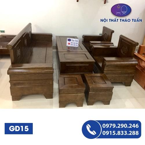Bộ ghế đối pháo gỗ bích GD15