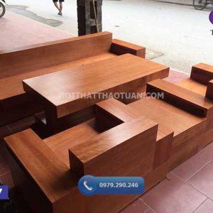 Ghế đối hộp gỗ xoan đào GD17