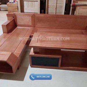 Bộ ghế sofa ngăn kéo vát gỗ sồi Nga SF19