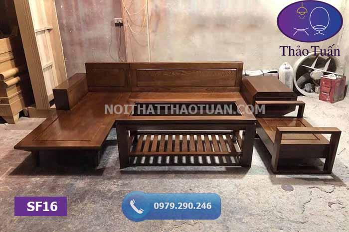 Bộ ghế sofa 2 tay gỗ sồi Nga SF16