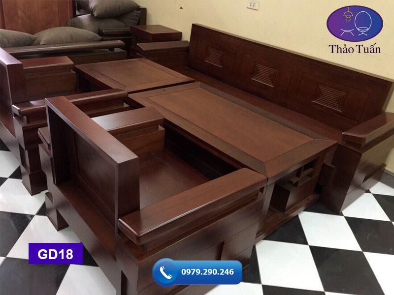 ghế đối tay nghiêng gỗ sồi GD18-1-org