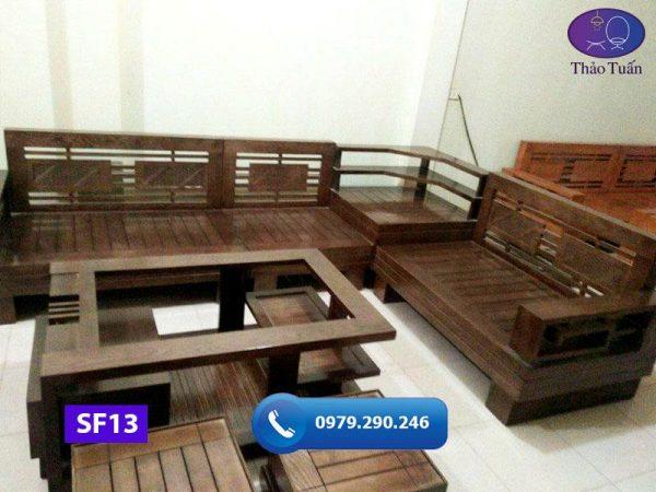 sofa góc để lọ hoa gỗ sồi Nga SF13 260x200cm3-org