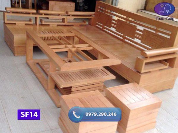 sofa góc cót 3 lá mặt nan gỗ sồi Nga SF14 230x200cm-org