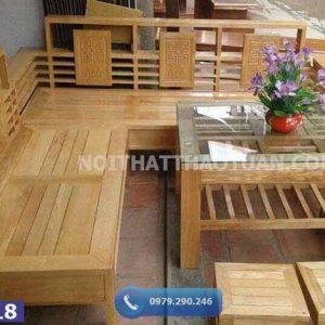 Bộ ghế sofa góc nhỏ gỗ sồi Nga SF18