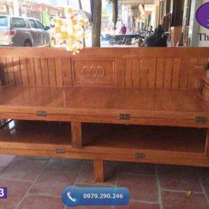 Giường gấp thành ghế sofa gỗ sồi Nga SF23