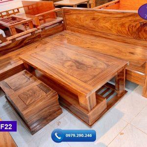sofa tay trứng tựa liền gỗ hương xám SF22-1-org