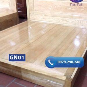 Giường ngủ kiểu bệt gỗ sồi Nga GN01-org