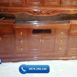 Kệ tivi gỗ xoan đào KT13