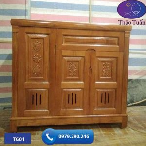 Tủ đựng giầy dép 3 cánh gỗ sồi Nga TG01