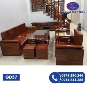 Bộ ghế đối hộp gỗ sồi GD37