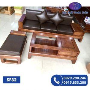 Bộ ghế sofa chân cuốn gỗ sồi Nga SF32