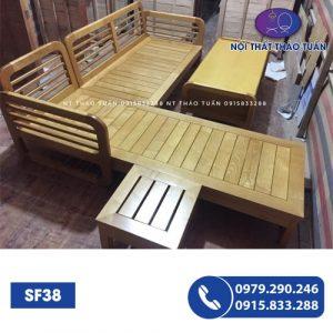 Bộ ghế sofa gỗ sòio SF38