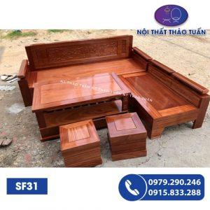 Bộ ghế sofa góc trứng gỗ SF31